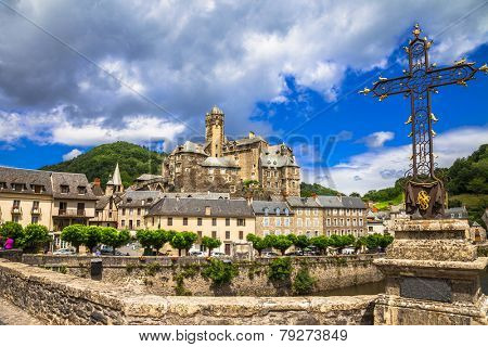 Estaing - one of the most beautiful villages of France.Pyrenees