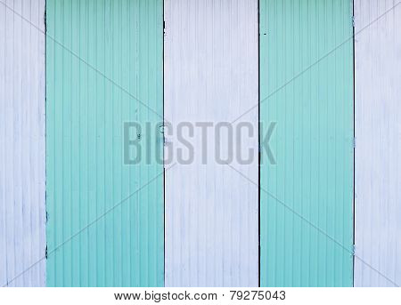 White And Blue Zinc Wall, Zinc Door