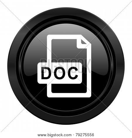 doc file black icon