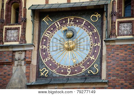 Clock Of Wroclaw Town Hall