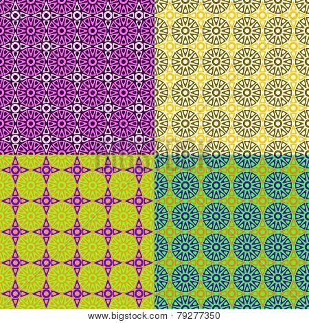Seamless Patterns Irregular Geometric Shapes