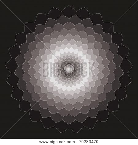 Ornamental Geometric Hand-drawing Dark Spectral Colored Vector Background