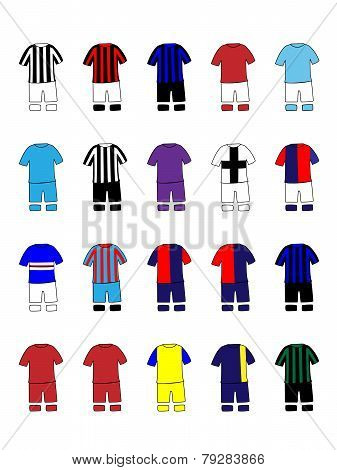 Italian League Clubs Kits 2013-14