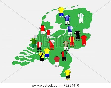 Dutch League Clubs Map