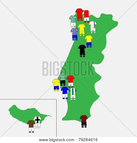 Portuguese League Clubs Map