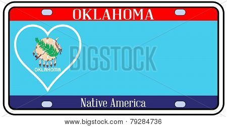 Oklahoma State License Plate