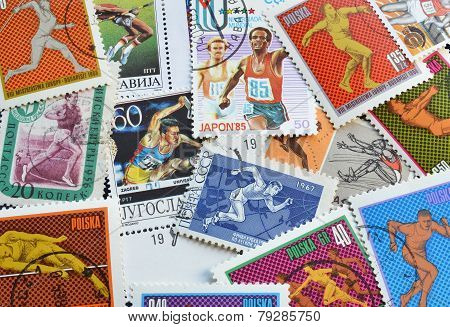 Athletics on stamps