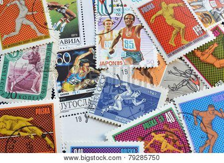 Athletics on stamps