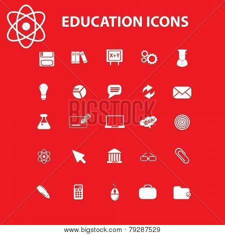 education icons, vector