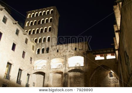 Palau Reial Major At Night