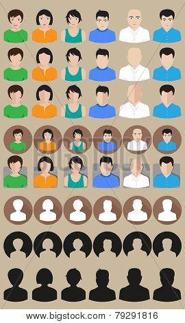 vector profile avatars