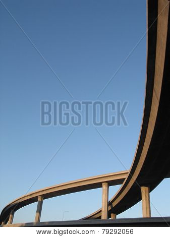 los angeles freeway curves blue sky