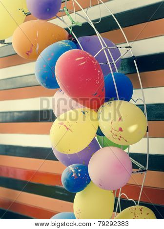 party balloons toned image