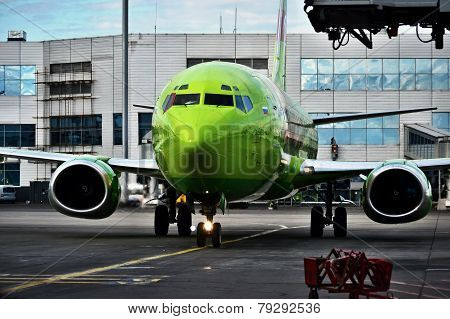 Parking of aircraft Boeing 737 - 800
