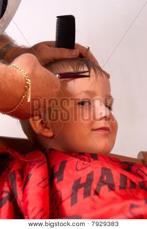 Boy At The Hairdresser