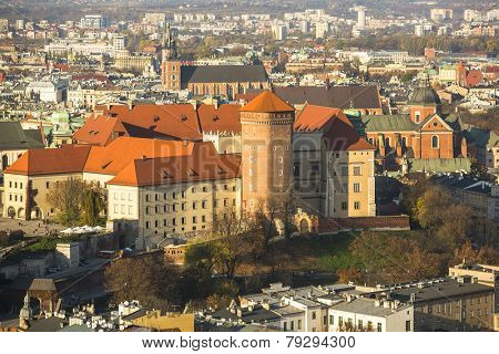 Royal Archcathedral Basilica of Saints Stanislaus and Wenceslaus on the Wawel Hill in Krakow, Poland