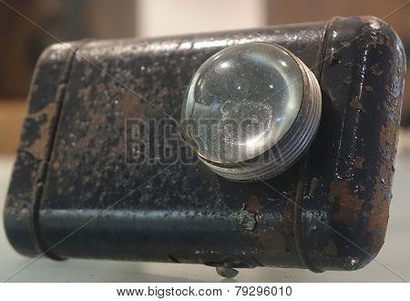 Old Rusty Flashlight
