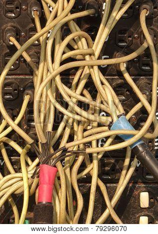Tangled Cables At Lighting Setup