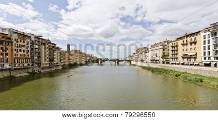 Arno River And Santa Trinita Bridge