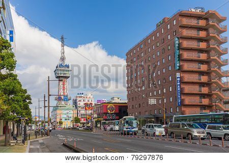 Beppu, Japan - November 29 :beppu Tower In November 29,2014 Was Originally Planned To Open The Beppu