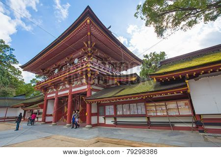 Fukuoka, Japan - December 2: Dazaifu Shrine In Fukuoka, Japan On December 2, 2014. Built Over Sugawa