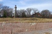 pic of gross  - Grosse Point Light House on the shore of Lake Michigan in Evanston - JPG