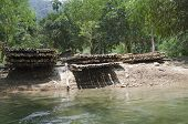 stock photo of raft  - Bamboo rafts for rafting - JPG