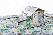 picture of zloty  - House built with Polish money  - JPG