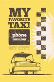 picture of silkscreening  - Taxi cab retro poster - JPG