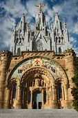 picture of sacred heart jesus  - Expiatory Church Of The Sacred Heart Of Jesus On Summit Of Mount Tibidabo In Barcelona - JPG