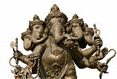 stock photo of hindu  - Hindu God Ganesh isolated on white background - JPG