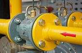 foto of gas-pipes  - transfer oil and gas to main pipe line - JPG