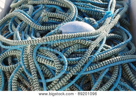 Blue Nylon Rope In Two Shades