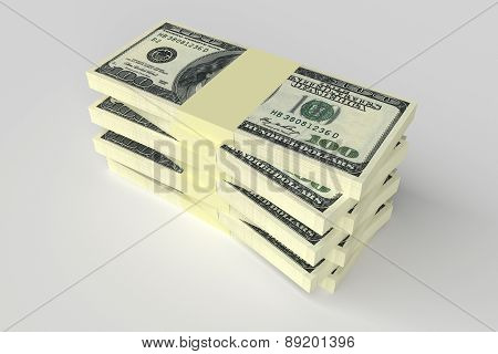 Money Concept - Many Dollars Banknotes