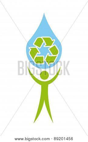 recycle design over white backgroundvector illustration
