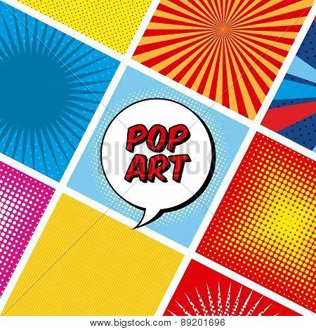 pop art design over colorful background vector illustration