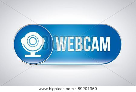 webcam over gray background vector illustration