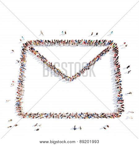 people in the form of a letter.