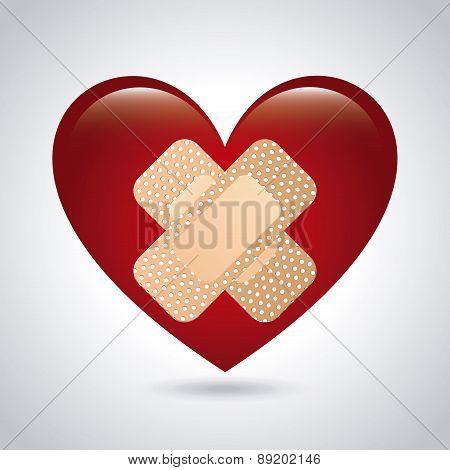 medical  heart design over white  background vector illustration