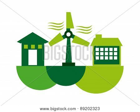 eco energy design over white background vector illustration