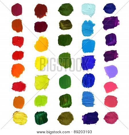 Vector Colorful brush stain