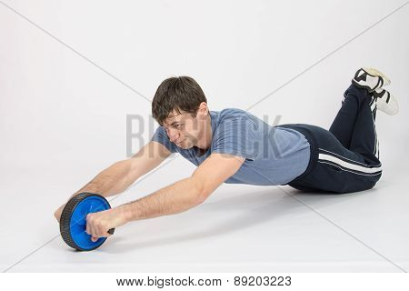 The Athlete Is Pushed By A Wheel