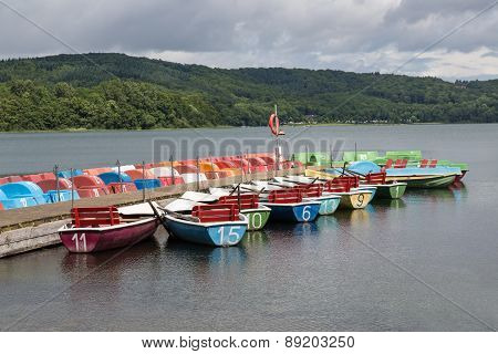 Rowboats For Rental In A German Lake