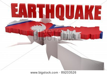 Earthquake In Nepal Concept