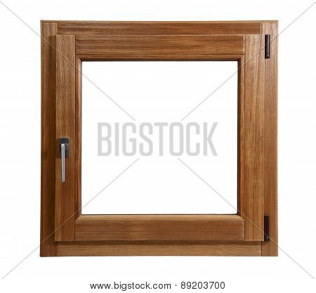 Wooden Window Closed