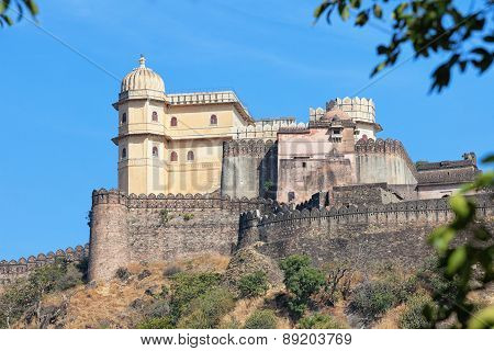 Inspiring View Of Kumbhalgarh Fortress Near Udaipur, India