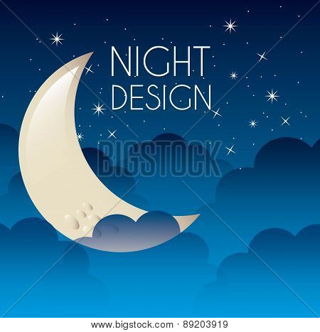 night graphic design vector illustration