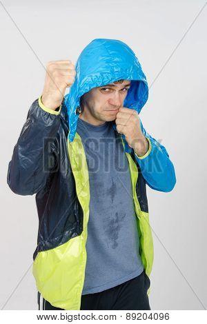 Man In Sportswear Fights