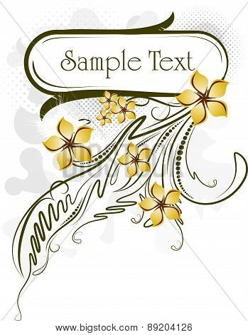 Abstract Flowers Frame. Vector