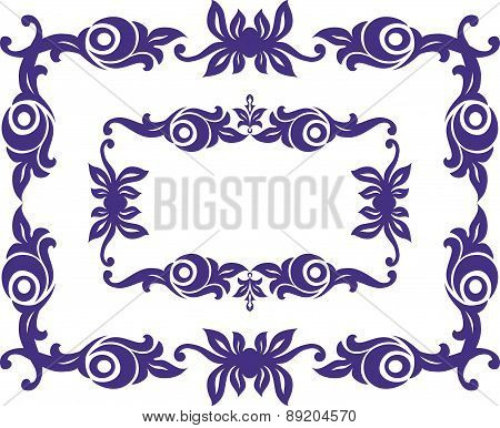 Pair of retro-frame isolated on white. Vector illustration.